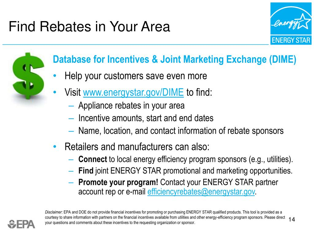 Find Rebates in Your Area
