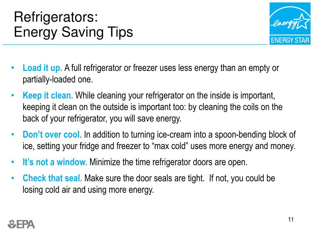 Refrigerators: