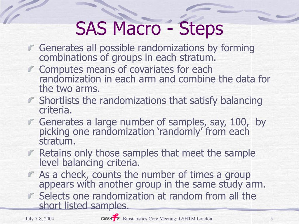 SAS Macro - Steps