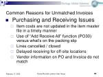common reasons for unmatched invoices22