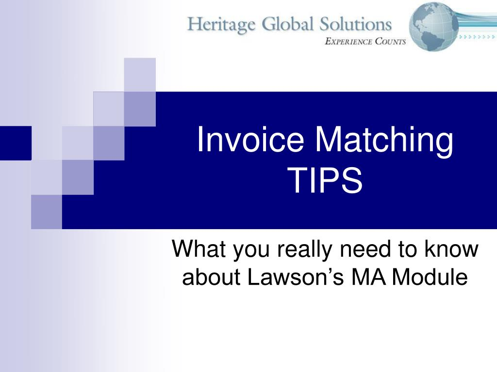 invoice matching tips
