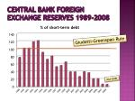 central bank foreign exchange reserves 1989 200818
