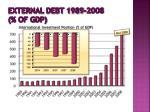 external debt 1989 2008 of gdp16