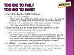 too big to fail too big to save