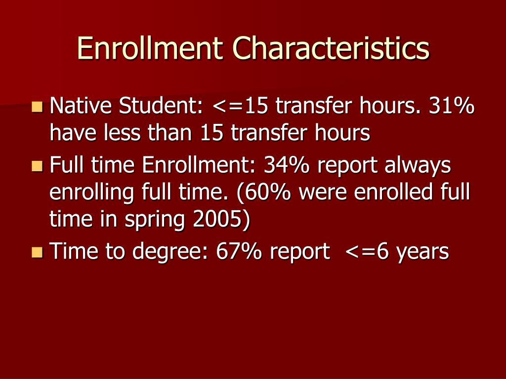 Enrollment Characteristics