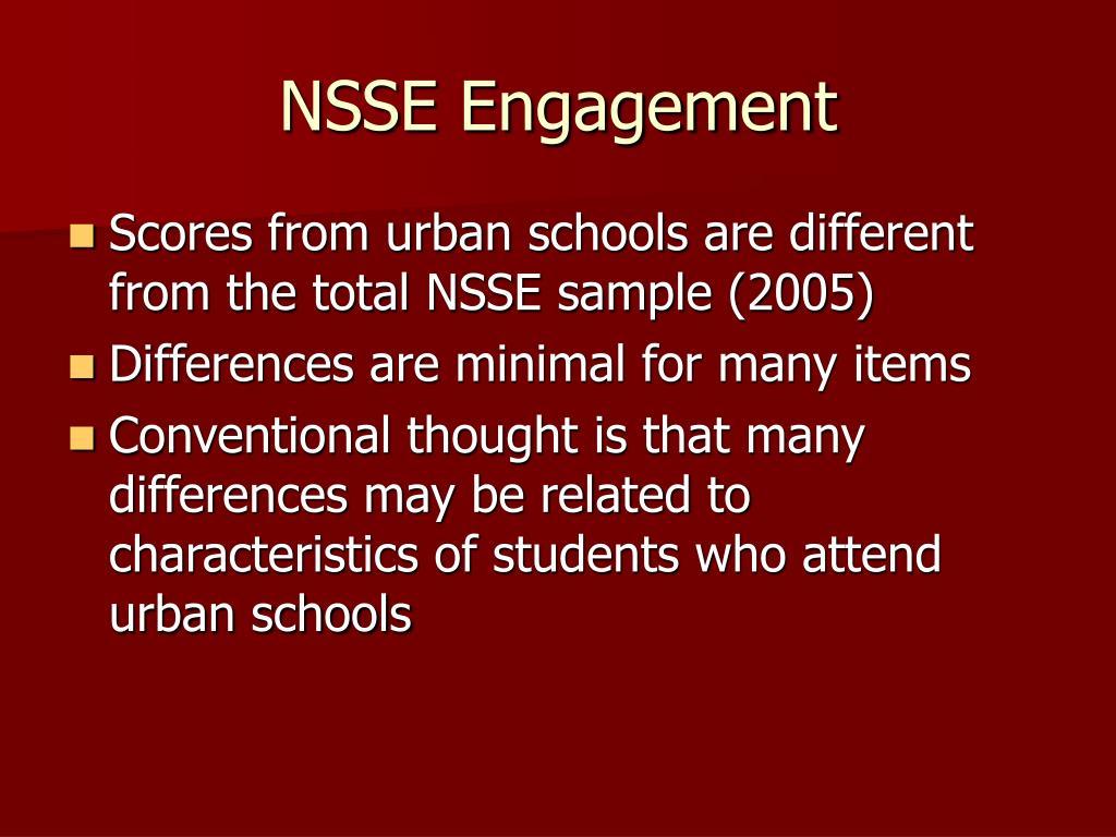 NSSE Engagement