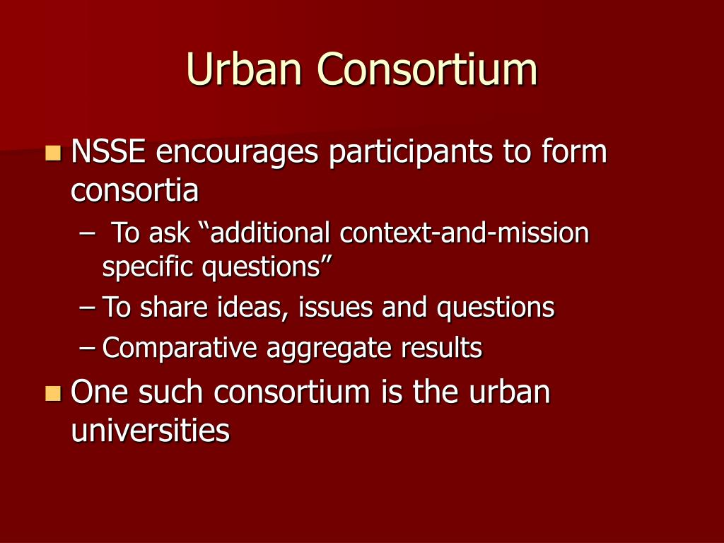 Urban Consortium
