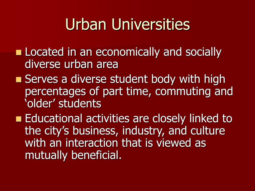 Urban Universities