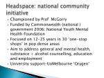 headspace national community initiative
