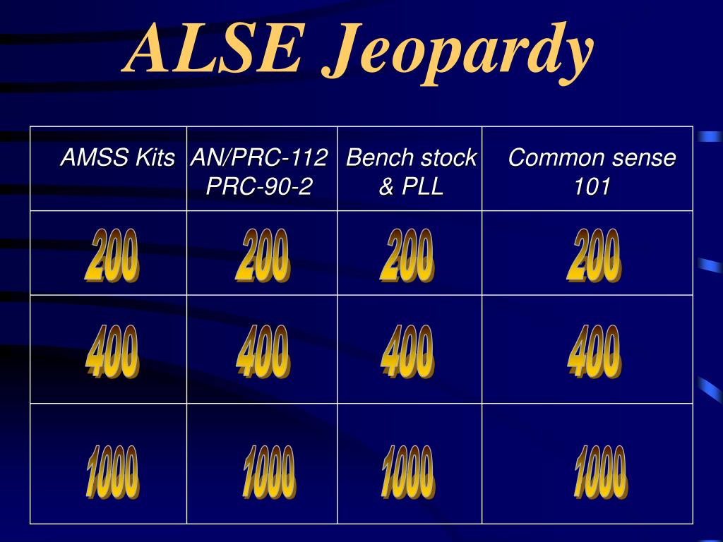 alse jeopardy