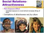 social relations attractiveness