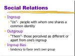 social relations5