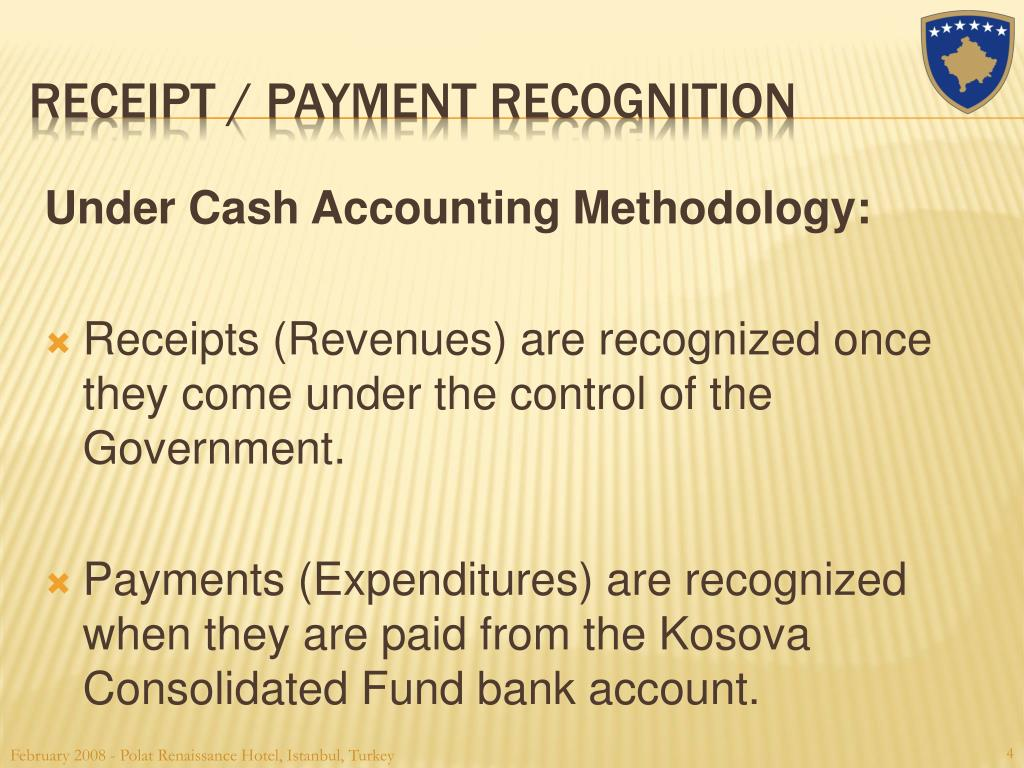 Under Cash Accounting Methodology: