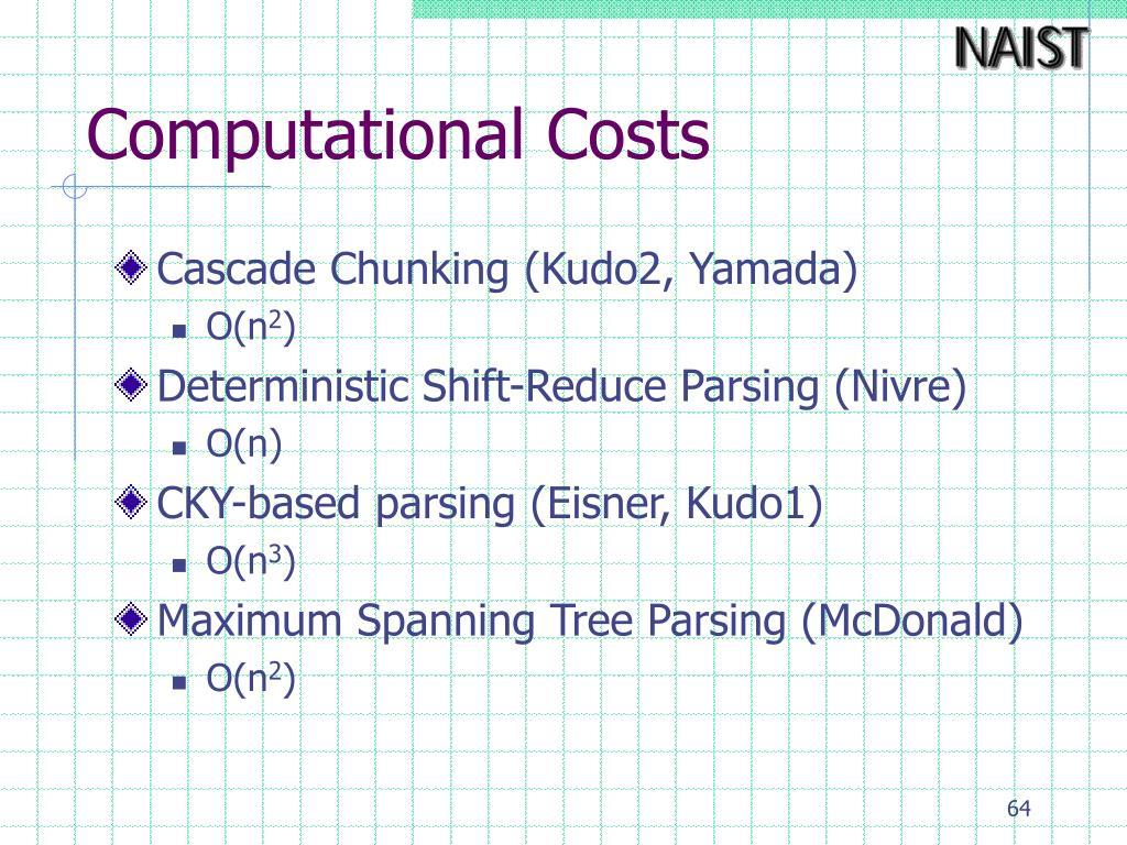 Computational Costs