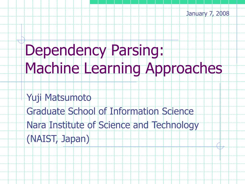 dependency parsing machine learning approaches l.