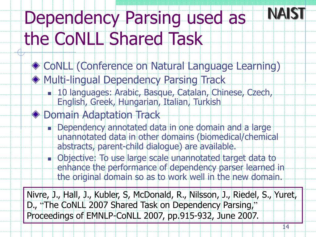 Dependency Parsing used as