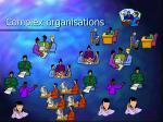 complex organisations