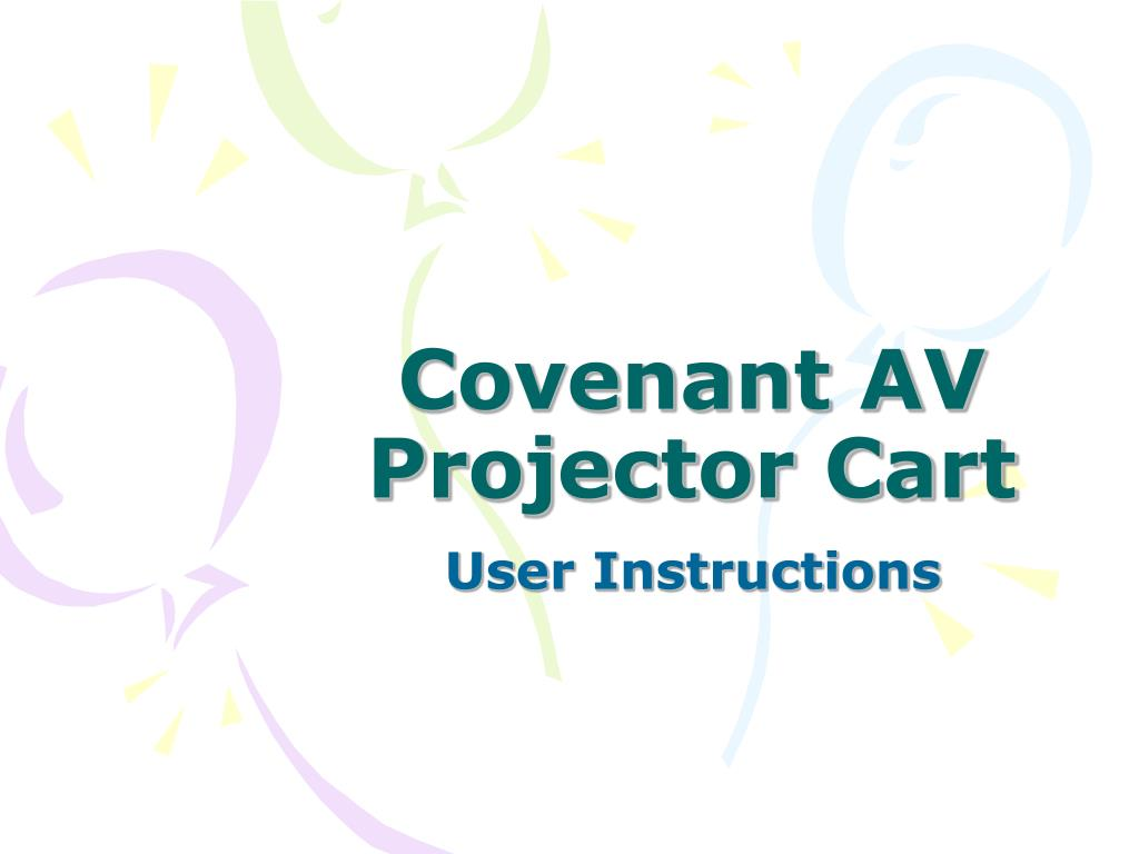 covenant av projector cart