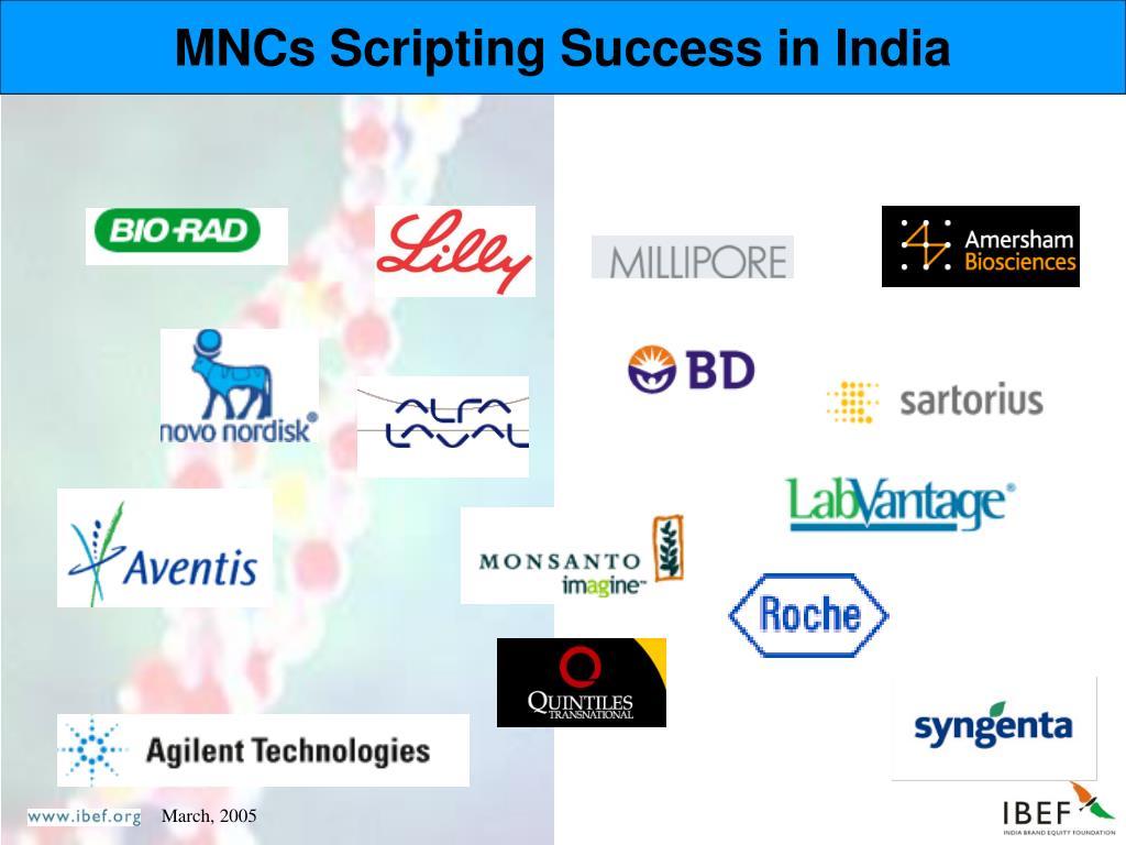 MNCs Scripting Success in India
