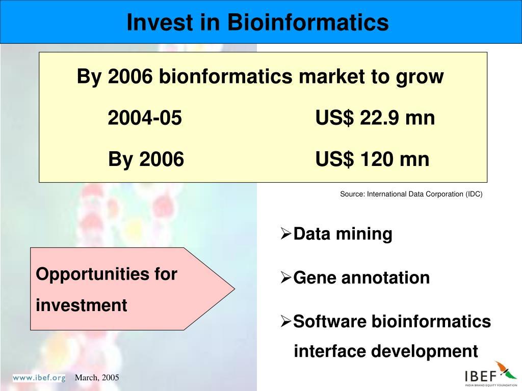 Invest in Bioinformatics