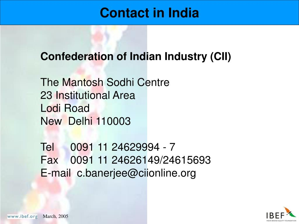 Contact in India