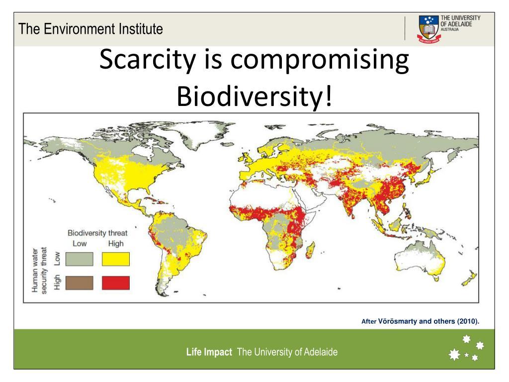 Scarcity is compromising Biodiversity!