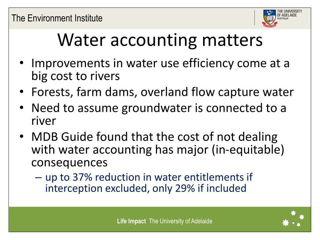 Water accounting matters