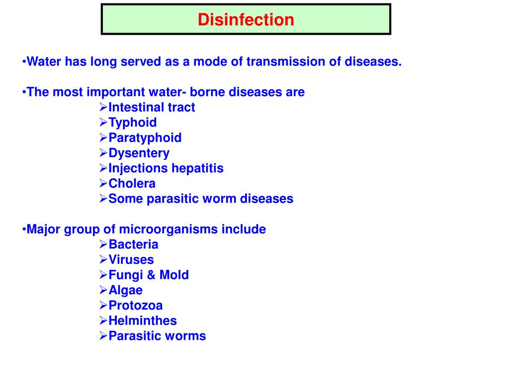 Disinfection