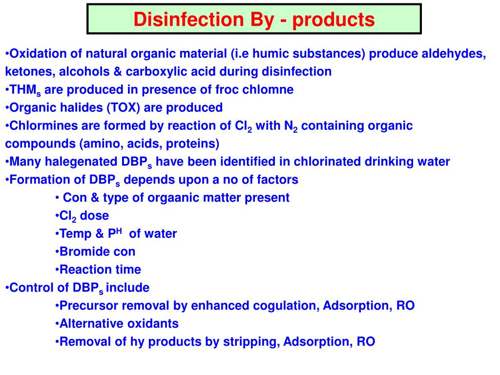 Disinfection By - products