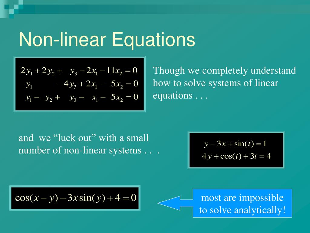 Non-linear Equations