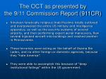 the oct as presented by the 9 11 commission report 911cr