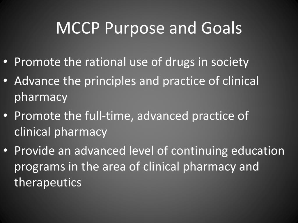 MCCP Purpose and Goals