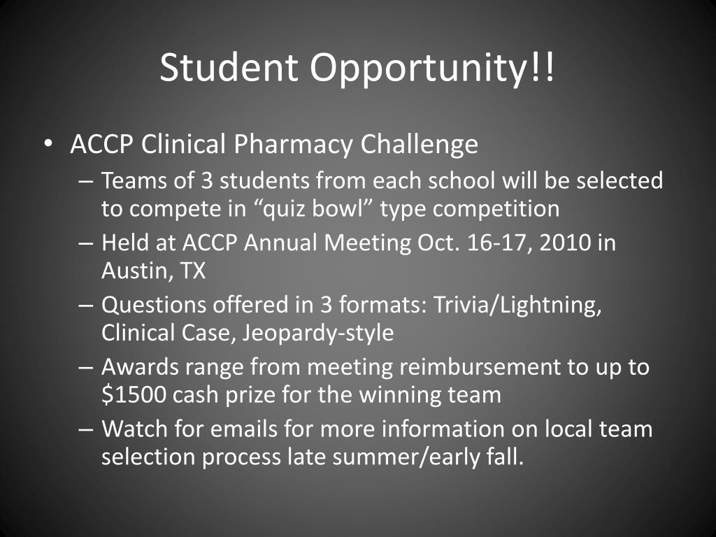 Student Opportunity!!