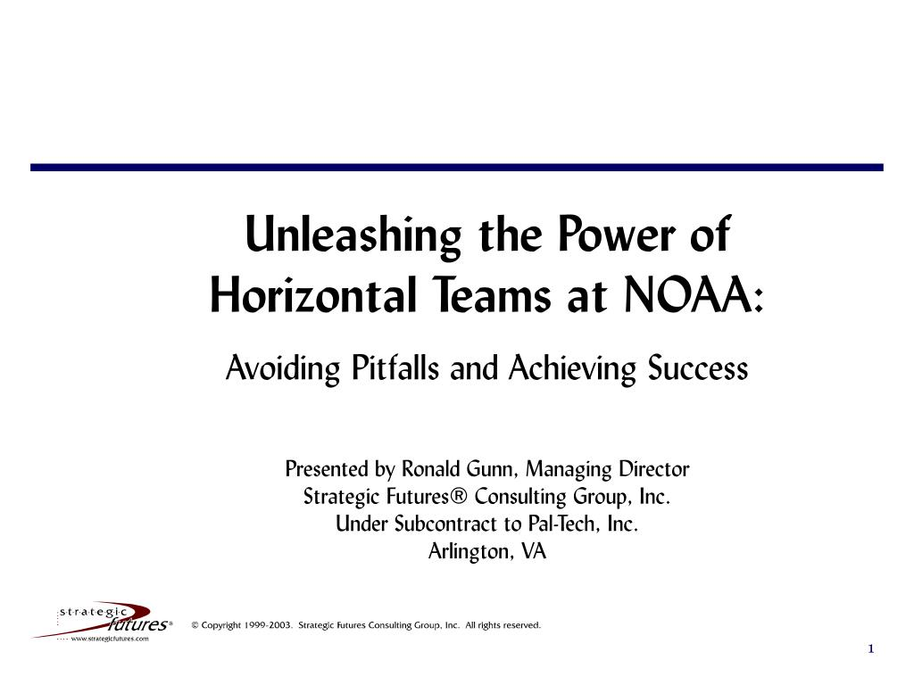 Unleashing the Power of Horizontal Teams at NOAA: