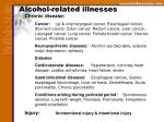 alcohol related illnesses