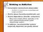 drinking vs addiction