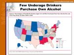 few underage drinkers purchase own alcohol