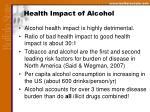 health impact of alcohol