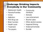 underage drinking impacts everybody in our community
