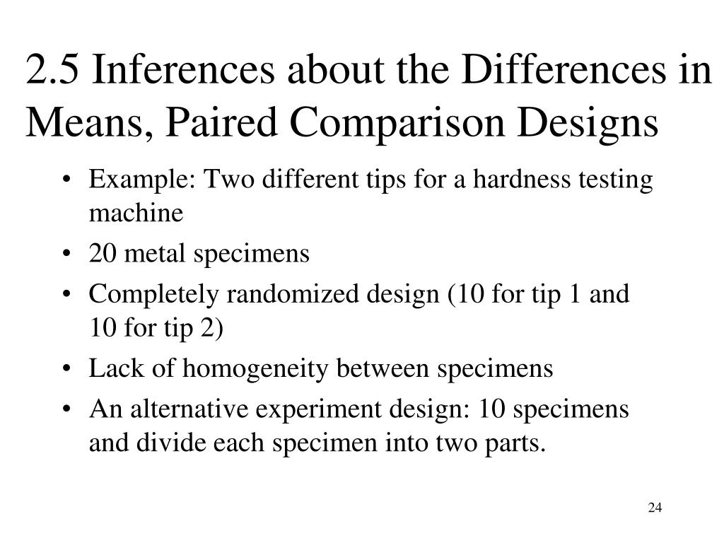 2.5 Inferences about the Differences in Means, Paired Comparison Designs