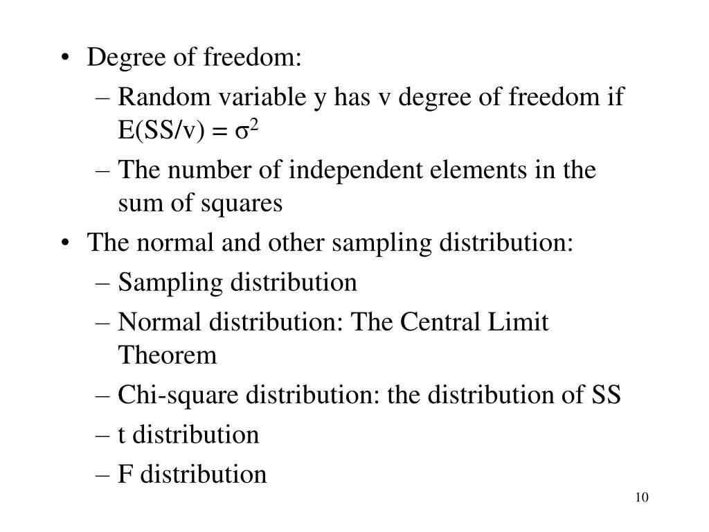 Degree of freedom: