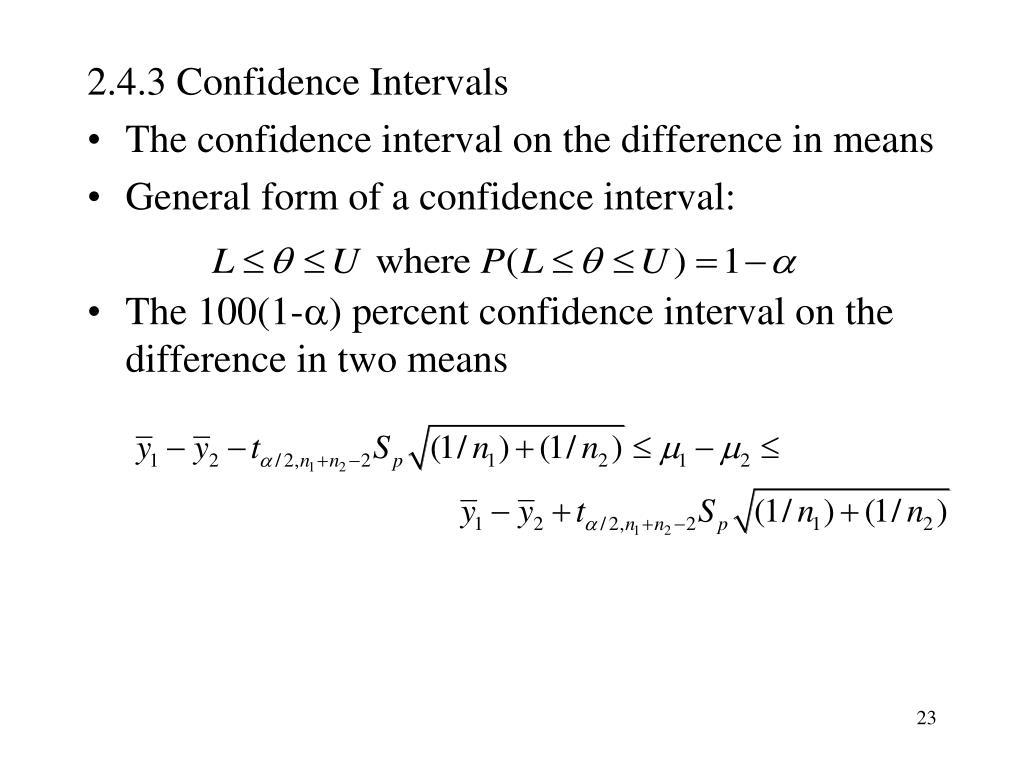 2.4.3 Confidence Intervals