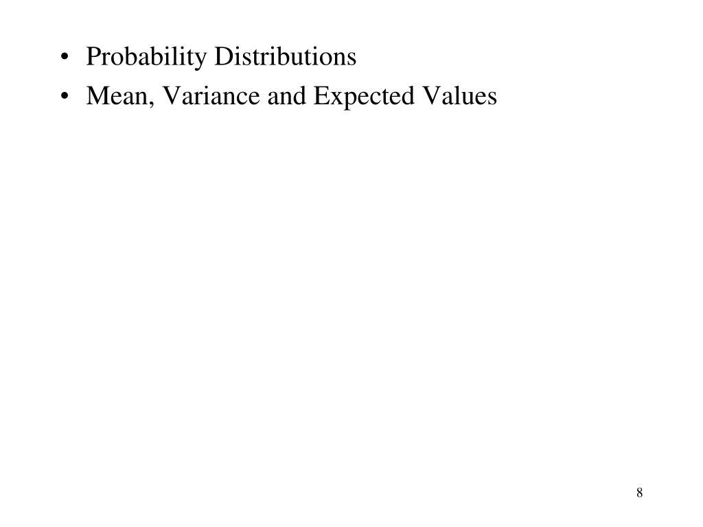 Probability Distributions