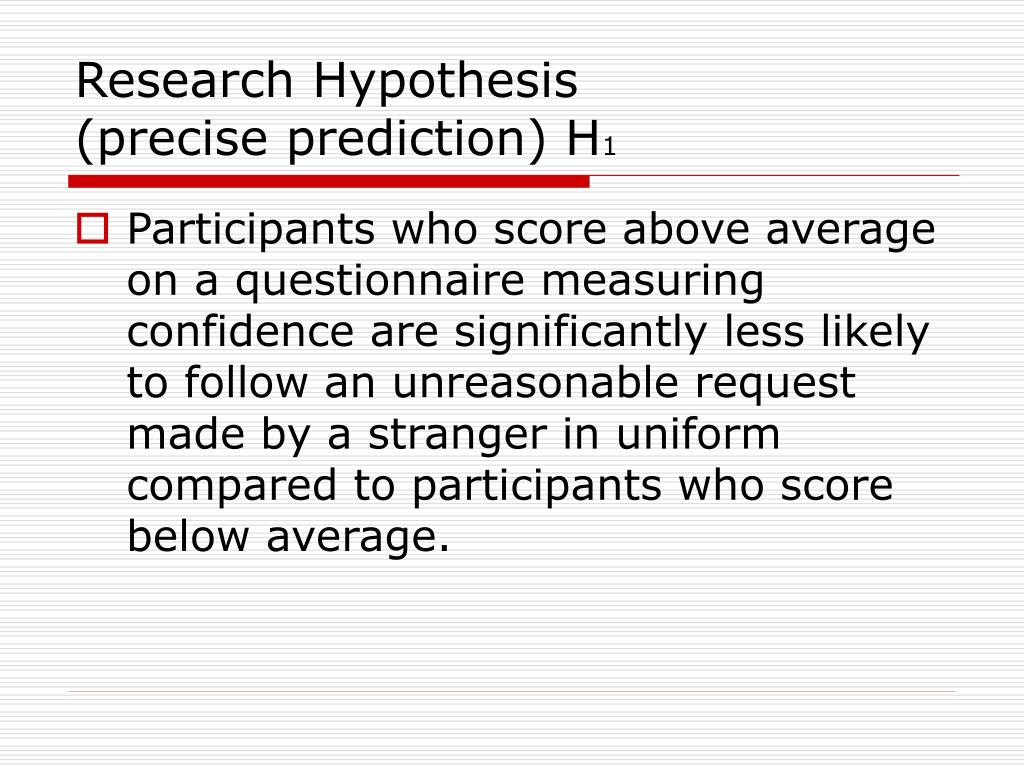 Research Hypothesis