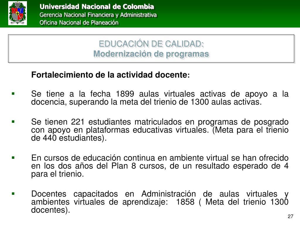EDUCACIÓN DE CALIDAD:
