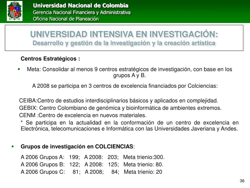 UNIVERSIDAD INTENSIVA EN INVESTIGACIÓN: