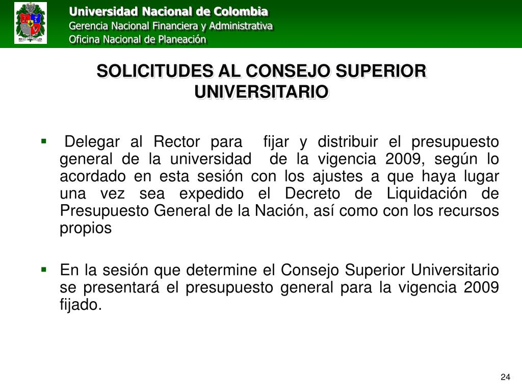 SOLICITUDES AL CONSEJO SUPERIOR UNIVERSITARIO