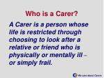 who is a carer