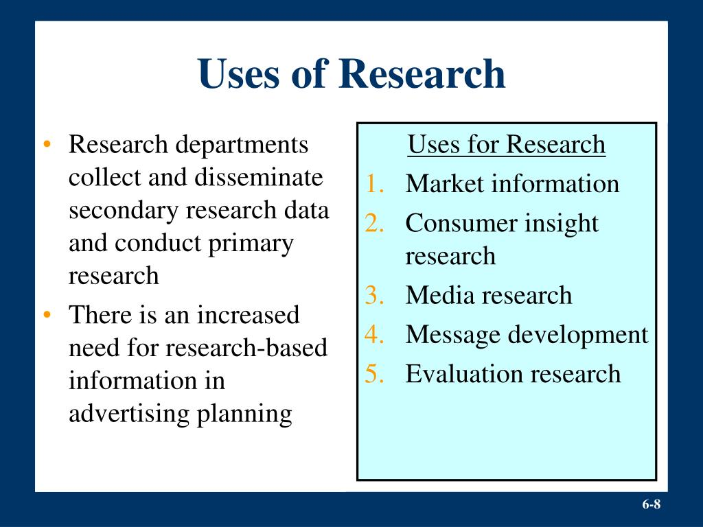 Research departments collect and disseminate secondary research data and conduct primary research