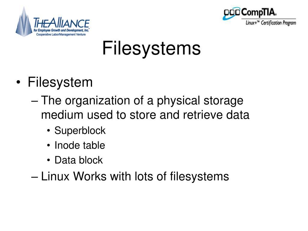 Filesystems